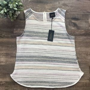 Anthropologie W5 Knit Visible Zipper Top